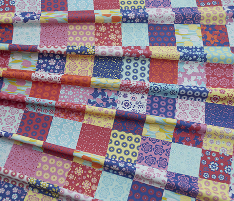 Cheater Quilt Spring Patchwork Squares