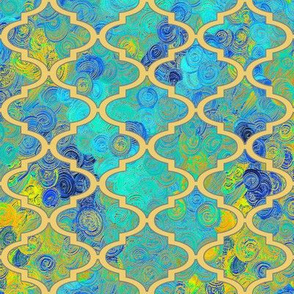 Sunny blue skies in a Moroccan quatrefoil by Su_G