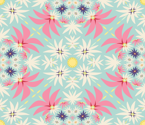 Spring flora applique  fabric by alfabesi on Spoonflower - custom fabric