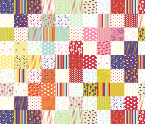Spring Plus Sign Cheater Quilt fabric by radianthomestudio on Spoonflower - custom fabric