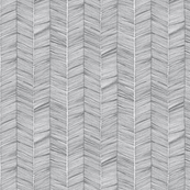 Grey Herringbone on White