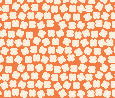 OrangeFloral fabric by mrshervi on Spoonflower - custom fabric
