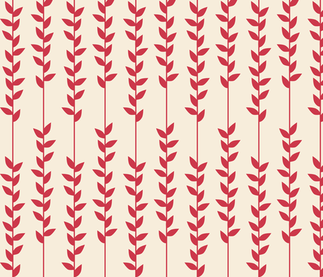 PinkVines fabric by mrshervi on Spoonflower - custom fabric