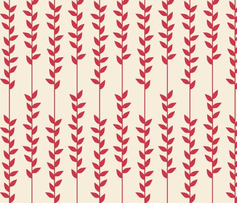 PinkVines fabric by mrshervi on Spoonflower - custom fabric