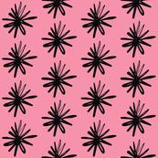 Floral Asterix Black Pink