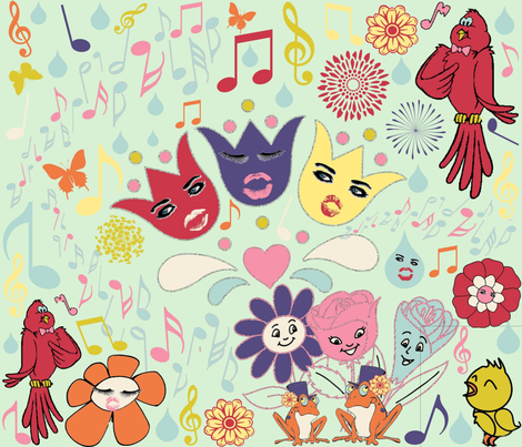 SPRING SYMPHONY fabric by bluevelvet on Spoonflower - custom fabric