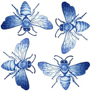 Bees of Jupiter in Blue