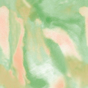Watercolor Peach and Green
