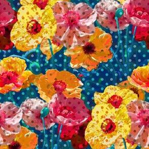 Psychedelic Polka Poppies - LSD