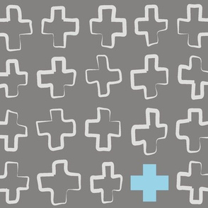 Hollow Crosses GreyBlue
