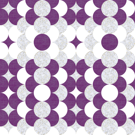 orchid and silver scales fabric by ravynka on Spoonflower - custom fabric