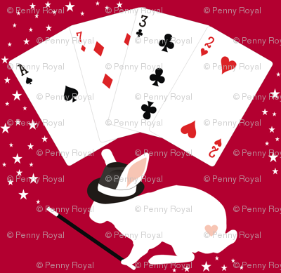 Rabbit in Hat Does Card Tricks