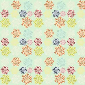 spring floral quilt block-ed