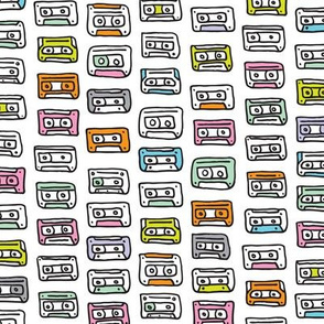 Cool retro music tapes