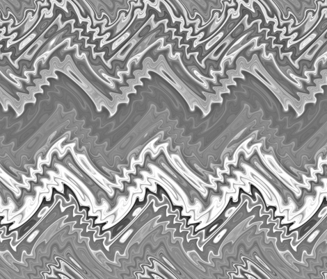 silver flame chevron fabric by weavingmajor on Spoonflower - custom fabric