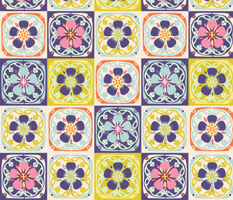Flower Quilt fabric by vinpauld on Spoonflower - custom fabric
