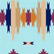 South West Blanket Aqua Horizontal