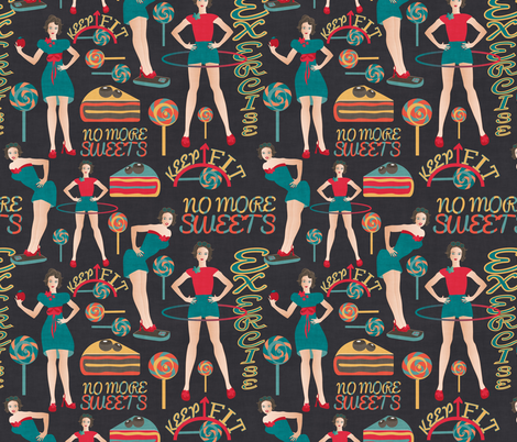 dieters' resolutions fabric by kociara on Spoonflower - custom fabric