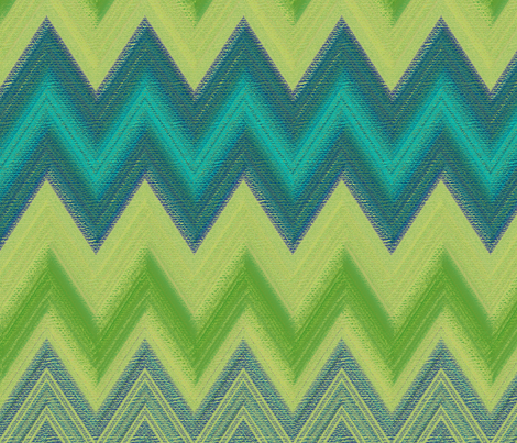 chalk chevron in greens