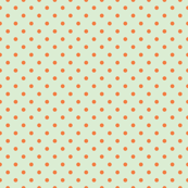 Orange Dots on Mint