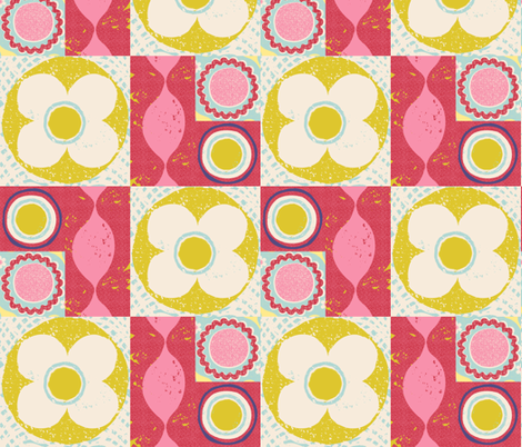 flower power quilt fabric by ottomanbrim on Spoonflower - custom fabric