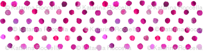 watercolor dots in purple on white