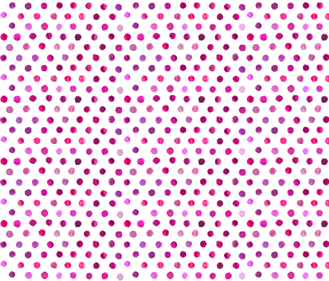 watercolor dots in purple on white fabric by katarina on Spoonflower - custom fabric