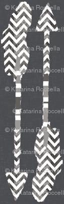 arrows watercolor in grey