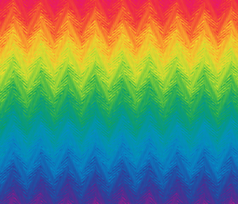 rainbow arrow stripe fabric by weavingmajor on Spoonflower - custom fabric