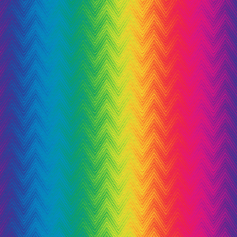 rainbow feather chevron fabric by weavingmajor on Spoonflower - custom fabric