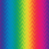 rainbow feather chevron