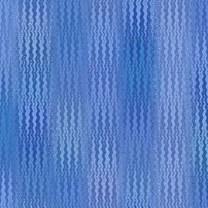 serene blue ikat zigzag