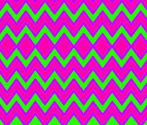 Green Pink Purple Chevron fabric by charldia on Spoonflower - custom fabric