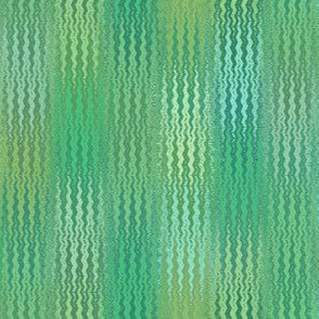 serene green ikat zigzag