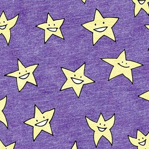happy stars on purple