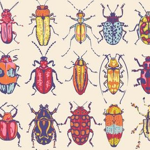 Spring Cheater Quilt Matching Beetles