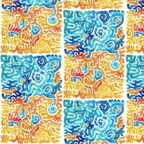 Indigo & Tangerine Smashed Chromosomes