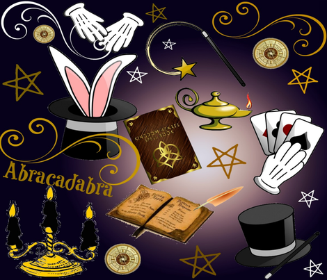 MAGICIANS BIRTHDAY fabric by bluevelvet on Spoonflower - custom fabric