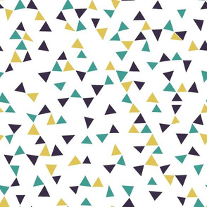Purple teal gold triangles