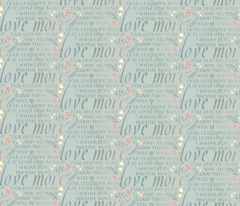 love_more fabric by j9design on Spoonflower - custom fabric