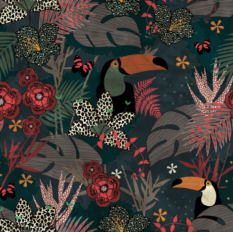 Jungle Fever fabric by kimsa on Spoonflower - custom fabric