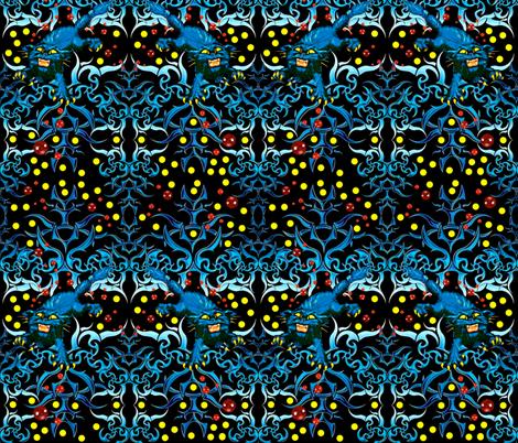 Rabid Black Cat fabric by whimzwhirled on Spoonflower - custom fabric