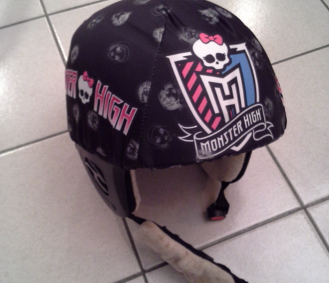 monster high ski helmet cover and tee