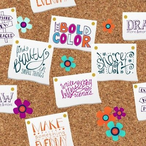 Creative New Years' Resolutions Board