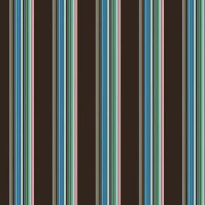 BLUE BIRD CHICKADEE Stripes 2