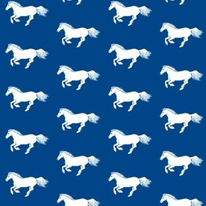 White Pony on Sorority Blue
