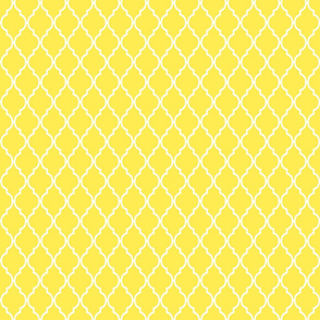 Small Bright Yellow Quatrefoil