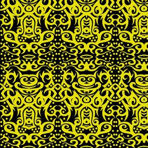 Tribal Damask yellow