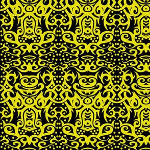Tribal Damask yellow