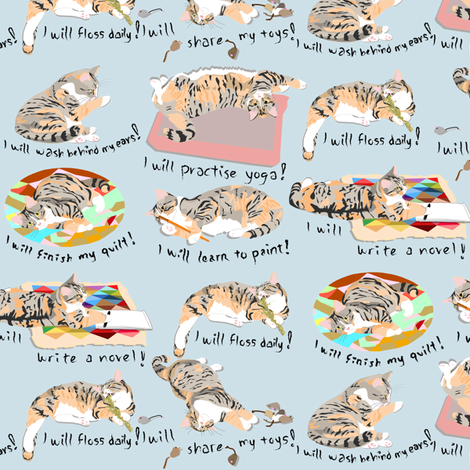 Natasha's Resolutions 2014 fabric by eclectic_house on Spoonflower - custom fabric